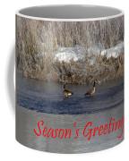 Mirrored Geese Season Greetings Coffee Mug