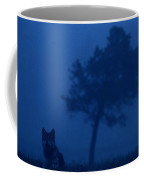 Misty View Of A Gray Wolf Canis Lupus Coffee Mug