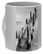 Misty Wooden Posts Coffee Mug