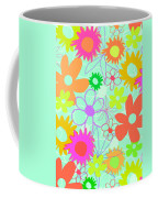 Mixed Flowers Coffee Mug by Louisa Knight