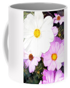 Mixed Pink And White Cosmos Coffee Mug