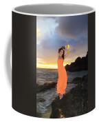 Model In Orange Dress Coffee Mug