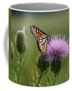 Monarch Butterfly On Bull Thistle Wildflowers Coffee Mug