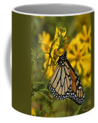 Monarch Butterfly On Tickseed Sunflower Din146 Coffee Mug