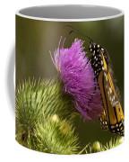 Monarch Thistle Munching Coffee Mug