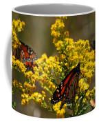 Monarchs On Yellow Coffee Mug