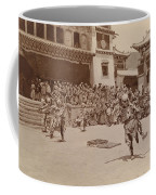 Monks Dressed As Departed Spirits Coffee Mug by Dr Joseph F Rock