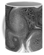 Mono Swirl Abstract Coffee Mug