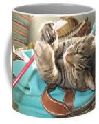 Monty Holding Paintbrush .. Coffee Mug