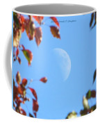 Moon Amidst Red Leaves Coffee Mug