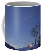 Moon And Alpenglow Coffee Mug