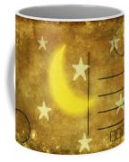 Moon And Star Postcard Coffee Mug