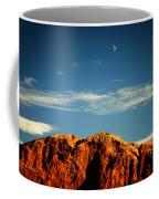 Moon Over Red Rocks Garden Of The Gods Coffee Mug