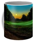 Moon Setting Over The Green Coffee Mug
