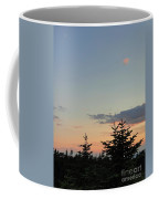Moon Watching The Sunset In Acadia Coffee Mug