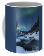 Moonlight And Aurora Over Tennevik Coffee Mug