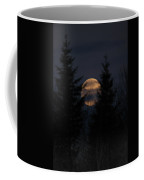 Moonset In The Spruce Bog Coffee Mug