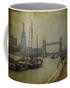 Moored Thames Barges. Coffee Mug