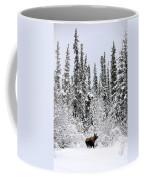Moose In Deep Snow, Near Teslin, Yukon Coffee Mug