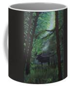 Moose In Pines Coffee Mug