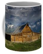 Mormon Barn Under Approaching Storm Coffee Mug