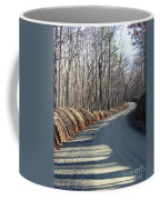 Morning Shadows On The Forest Road Coffee Mug