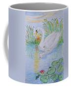 Morning Swim I  Original Colored Pencil Drawing Coffee Mug