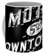 Motel Sign Black And White Coffee Mug