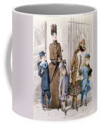 Mother And Children In Walking Dress  Coffee Mug