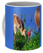 Mother And Young Sandhill Crane Coffee Mug