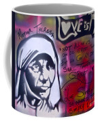 Mother Theresa Living Simply Coffee Mug