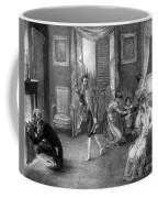 Mother With Migraine Helped By Family Coffee Mug