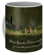 Mother's Watchful Eye Coffee Mug by Kathy Clark