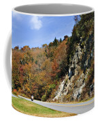 Motorcycle On The Highway Coffee Mug
