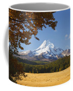 Mount Hood And Autumn Colours In Hood Coffee Mug