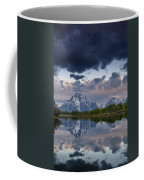 Mount Moran Under Black Cloud Coffee Mug