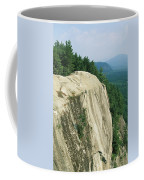 Mountain Biker On Edge Of Cliff Coffee Mug