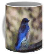 Mountain Bluebird Painterly Coffee Mug