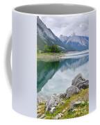 Mountain Lake In Jasper National Park Coffee Mug by Elena Elisseeva