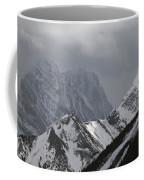 Mountain Peaks In Clouds, Spray Lakes Coffee Mug