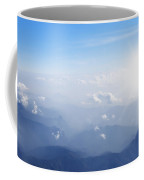 Mountain With Blue Sky And Clouds Coffee Mug