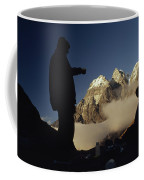 Mountaineers Rest At Their Campsite Coffee Mug