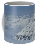 Mountains And Glaciers Near Ny Alesund Coffee Mug
