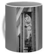 Mr Met In Black And White Coffee Mug by Rob Hans