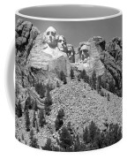 Mt. Rushmore Full View In Black And White Coffee Mug