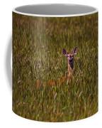 Mule Deer In Wheat Field, Saskatchewan Coffee Mug