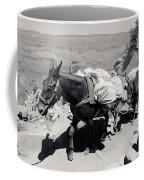 Mule Train Bw Coffee Mug