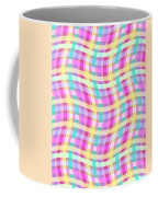 Multi Check Coffee Mug by Louisa Knight