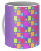 Multicoloured Squares Coffee Mug by Louisa Knight