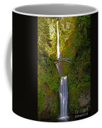 Multnomah Falls At Summer Solstice - Posterized Coffee Mug
